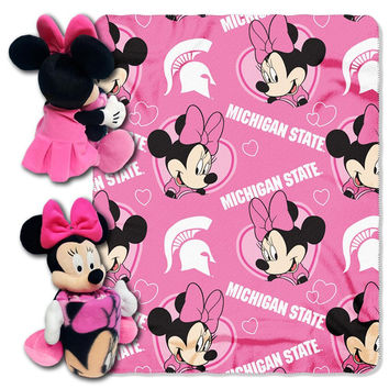 Michigan State Spartans NCAA Minnie Mouse with Throw Combo