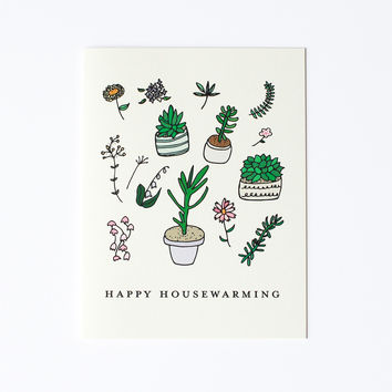 Happy Housewarming Plants Card