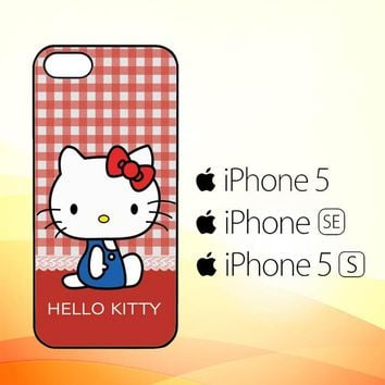 hello kitty kawaii pink X4821  iPhone 5|5S|SE Case