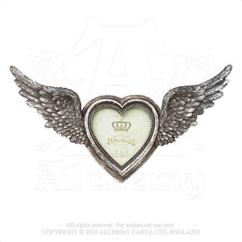 Alchemy Gothic Shades of Alchemy Heart Shaped Photo Frame w/ Wings
