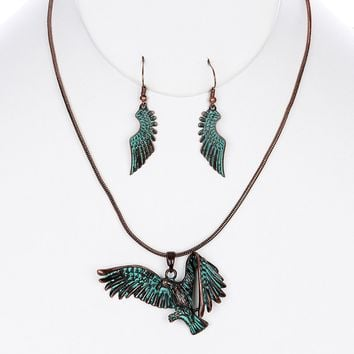 Cooper (Thunderbird) Necklace and Earring Set