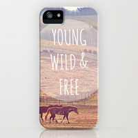 Young, Wild & Free. iPhone Case by Abigail Ann | Society6