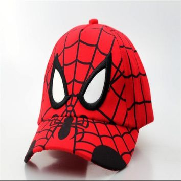 Red Spiderman Cap Hat