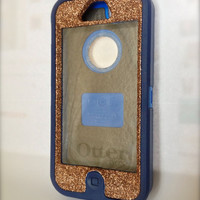 iPhone 5 Otterbox Glitter Cute Sparkly Case Defender Series  Frost Bronze
