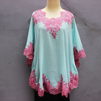 Short Caftan Cute Tunic Dress Cute Purple Brocade Plus Size Dress