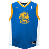 adidas Youth Golden State Warriors Stephen Curry Revolution 30 Replica Road Jersey