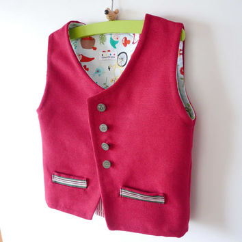 Baby Boy Vest PETER pattern PDF sewing pattern, Easy pattern, Instant Download, Toddler Vest, Children Vest, size 12m 18m 2 3 4 5 6 7 yrs