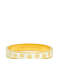Kate Spade Ahead Of The Pack Hinged Idiom Bangle White ONE