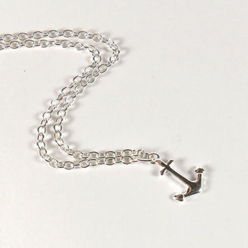 Sterling Silver Anchor Charm Anklet Simple Nautical Jewellery
