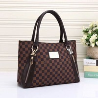 LV Louis Vuitton Women Shopping Leather Tote Handbag Shoulder Bag