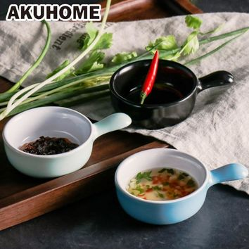 Japanese creative ceramic dishes plate 3 colors Sushi Dishes Snacks Kitchen Vinegar Seasoning Sauce Dinnerware