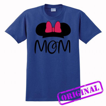2 MOM Minnie Mouse for women for shirt antique royal, tshirt antique royal unisex adult