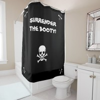 PIRATES BOOTY SHOWER CURTAIN