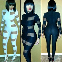 Stylish Lady Women's Casual Long Sleeve Rompers Mesh Sexy Bodysuit Full Length Bodycon Long Jumpsuits 7_S = 1905834116