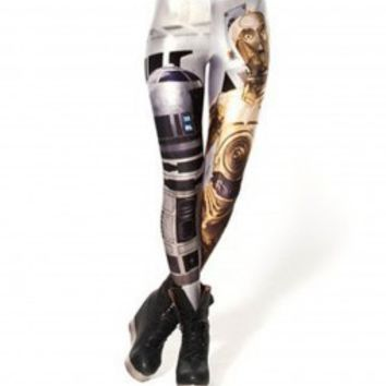 r2d2 c3po Leggings, r2d2 c3po tights