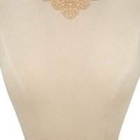 Etched Filigree Bib Necklace | Forever 21 - 1000170816