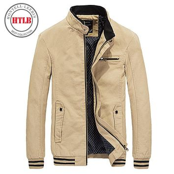 New Spring Autumn Men Casual Jacket Coat Men's Fashion Washed Pure Cotton Clothing Jackets Male Coats