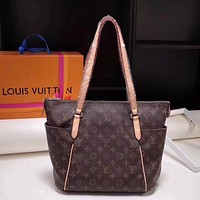 LV Louis Vuitton MONOGRAM CANVAS Totally HANDBAG TOTE BAG