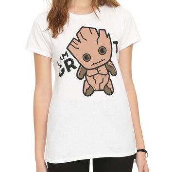 Marvel Guardians Of The Galaxy Chibi I Am Groot Girls T-Shirt