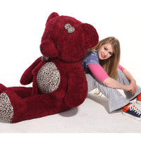 "Giant 57"" Big Plush crimson Teddy Bear Huge Soft Toy Gift 145cm"