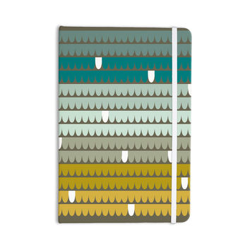"Pellerina Design ""Teal Scallops"" Blue Aqua Everything Notebook"