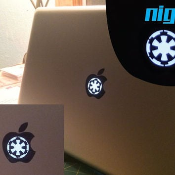 Imperial Logo Macbook Pro Starwars decal - Imperial Logo Star wars - Vinyl Decal - Jedi Force - CHOOSE A COLOR! - Mac book