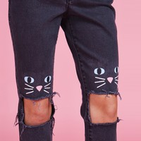 Lazy Oaf x The Ragged Priest Kitty Kat Jeans