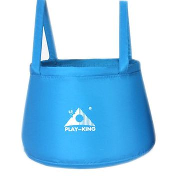 Blue Wash Kit Water Bucket Collapsible Sink Sport Camp Container, 10L
