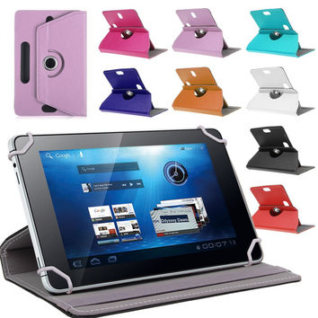 """For Acer Iconia Talk B1-723 /Talk S A1-724 16Gb 7"""" inch 360Degree Rotating Universal Tablet PU Leather cover case Free stylus"""