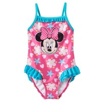 Disney's Minnie Mouse Ruffle One-Piece Swimsuit - Baby Girl, Size: