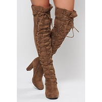 Travel Around Lace Up Boots (Taupe)