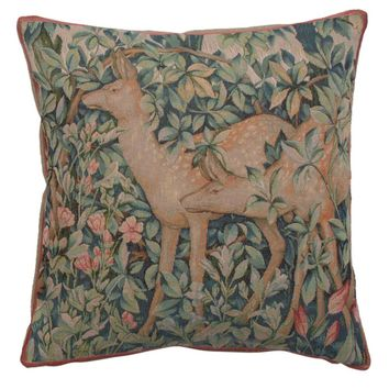 Two Does In A Forest Large French Cushion