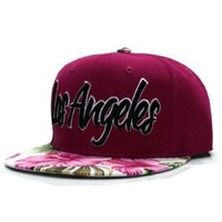 City Hunter Cf1660 Flower Snapback - Los Angeles - Fushia/white