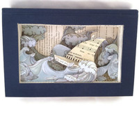 Sailing The Seas of Love Book Art Diorama by lifeaccessories