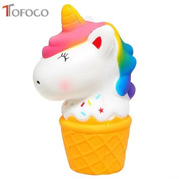 Kawaii Ice Cream Squishy Unicorn Jumbo Toys