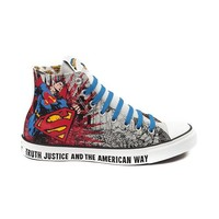 Converse All Star Hi Man of Steel Athletic Shoe, Gray Red Blue, at Journeys Shoes