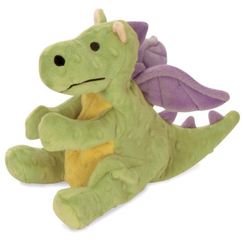 goDog Baby Dragon Large Plush Dog Toy Lime