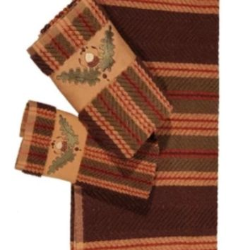 Cowgirl Kim Acorn Striped 3pc. Bath Towel Set