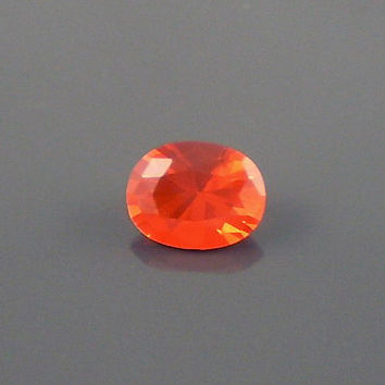 Fire Opal: 0.99ct Red Orange Oval Shape Gemstone, Loose Natural Hand Made Mexican Faceted Precious Gem, OOAK Cut Crystal Jewelry Supply O34