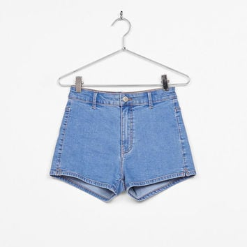 High rise denim shorts - Shorts - Bershka United States