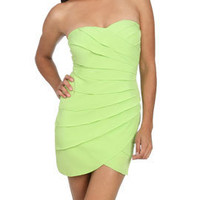 Sweetheart Pleated Tube Dress | Shop Dresses at Arden B