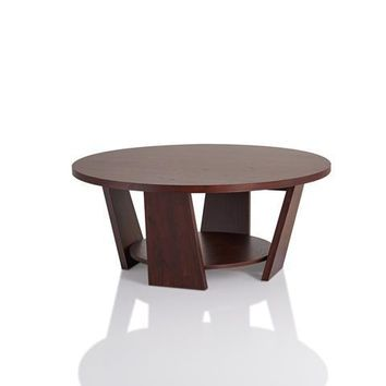 Garenn Modern Coffee Table in Vintage Walnut