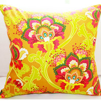 "Fall Fabulous Pillow 18x18 Decorative Pillow Cover ""Color Me Crazy"" Collection"