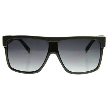Retro Mens Super Flat Top Horned Rim Sunglasses 8493