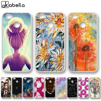 AKABEILA Soft TPU Phone Cases For ZTE Blade A6 5.2inch Covers Nutella Flamingo Tetris Silicone Housing