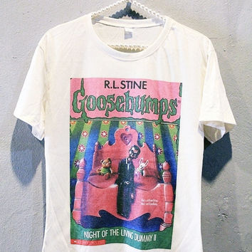 Goosebumps Night Of The Living Dummy Shirt Off White Classic T-Shirt Women Size M