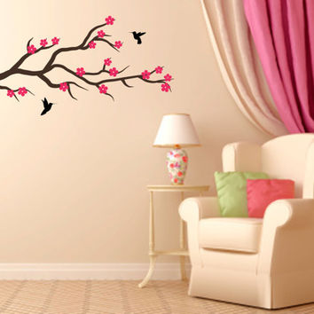 Tree Branch Wall Decal - Cherry Blossom Tree Branch