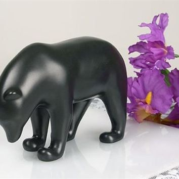 Dark Brown Bear with Head Down Animal Statue by Pompon 6.25W - POM07