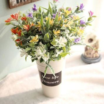 ICIK7Q artificial flowers for decoration home DIY artificial orchids arrangements wedding flowers bridal bouquets flores de papel
