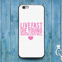 iPhone 4 4s 5 5s 5c 6 6s plus + iPod Touch 5th Generation Cute Girly Bad Girl Pink Fun Quote Heart Cool Cover Custom Funny Gift White Case